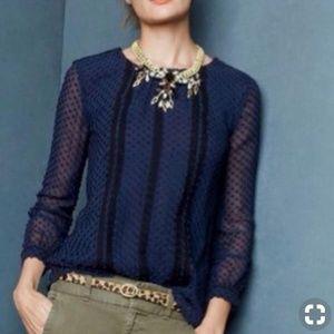 J.Crew swiss dots blouse
